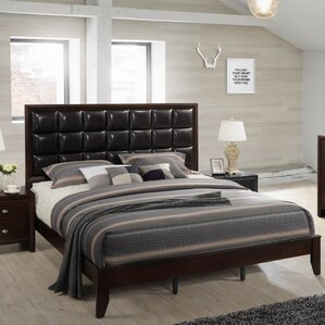 Gloria Wood Panel Bed by Roundhill Furniture