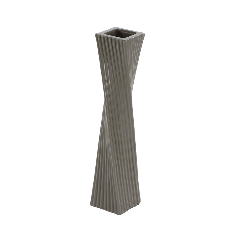 Cole Grey Floor Vase Reviews Wayfair