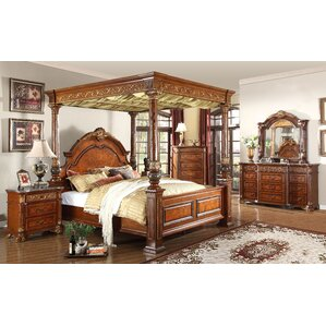 Cherry Bedroom Sets You ll Love   Wayfair. Queen Canopy Bedroom Sets. Home Design Ideas