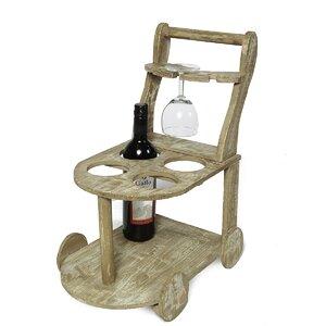 Weinflaschenhalter Wagen für 4 Fl. von Ambiente Haus