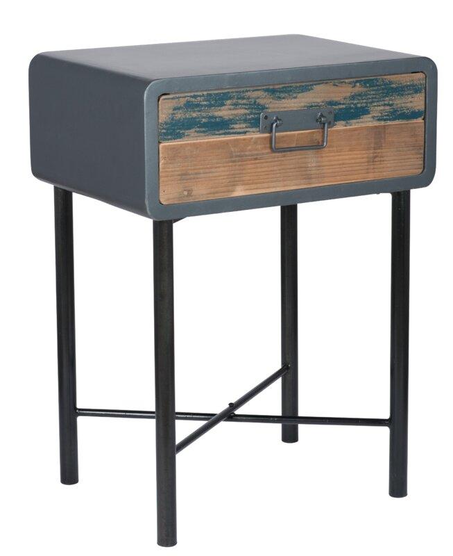 pacific lifestyle beistelltisch brooklyn mit stauraum. Black Bedroom Furniture Sets. Home Design Ideas