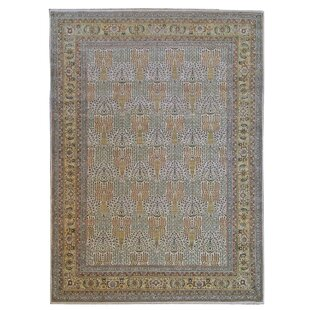 One Of A Kind Tabriz Hand Knotted Wool Ivory Area Rug