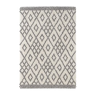 Chess Woven Cream/Grey Rug by Mint Rugs