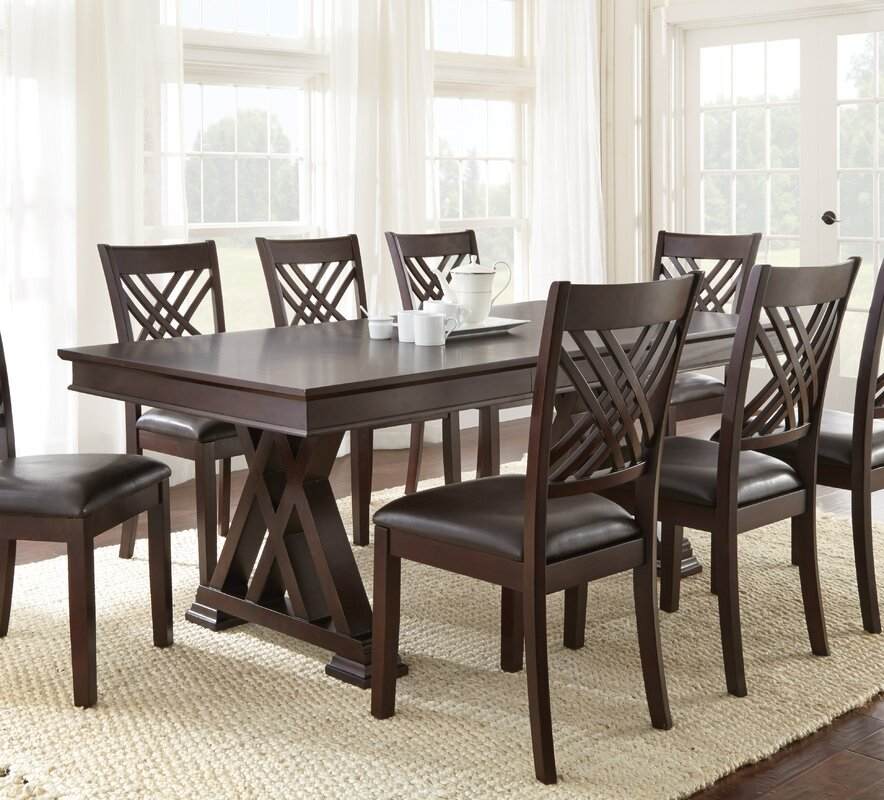 Brayden Studio Adrian Extendable Dining Table Reviews Wayfair - Alyssa dining room set