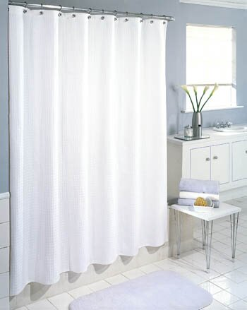 Symple Stuff Cotton Waffle Weave Shower Curtain Reviews Wayfair