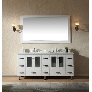 Kettner 73 Double Bathroom Vanity with Mirror
