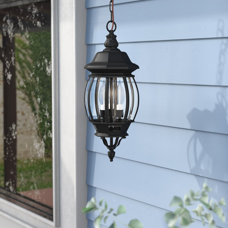 Alcott Hill Mackintosh 3 Light Outdoor Hanging Lantern