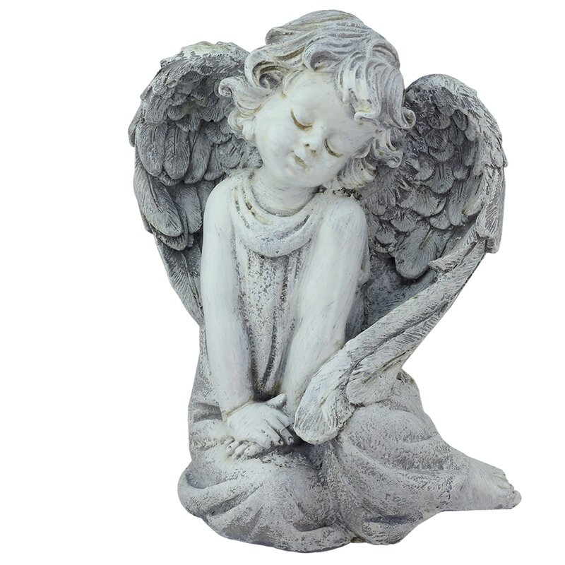Sitting Cherub Angel Outdoor Patio Garden Statue