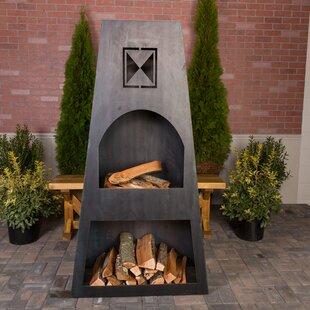 Fire Knight Steel Wood Burning Outdoor Fireplace