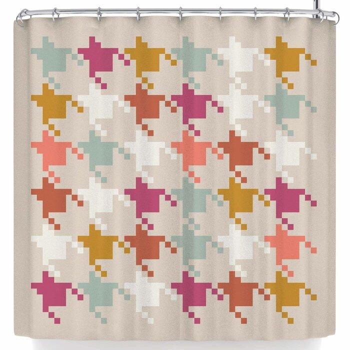 Pellerina Houndstooth Digital Shower Curtain