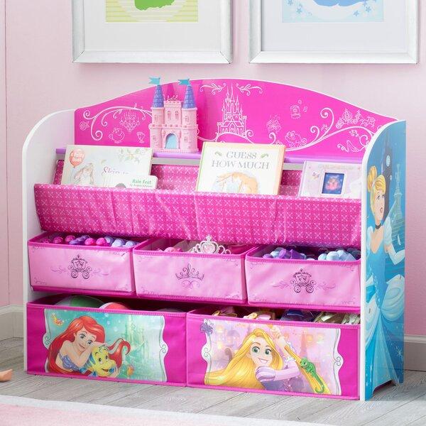 Delta Children Disney Princess Deluxe Book Toy Organizer