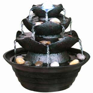 Thomaston Resin Cascade Fountain With Light