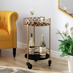 Rivero Quatrefoil Bar Cart