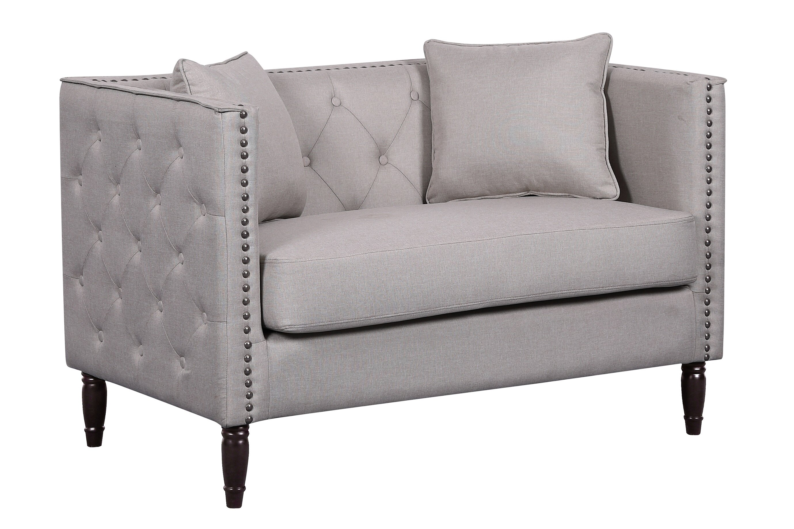 sofa velvet chloe loveseat tufted wayfair