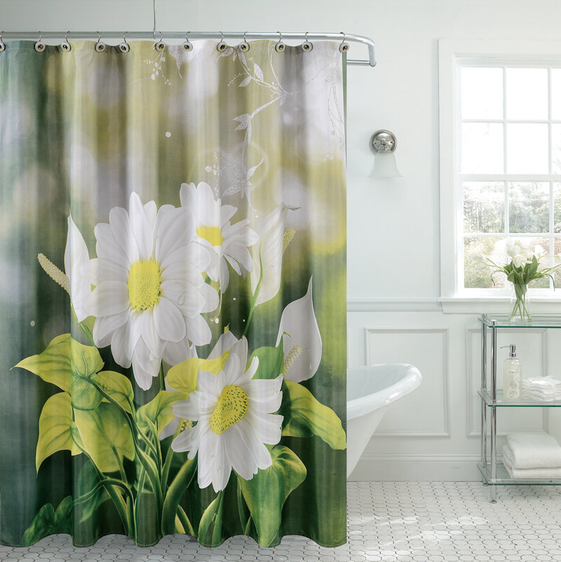 Daniels Bath Fancy Daisy Shower Curtain & Reviews | Wayfair