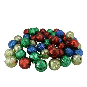 Shatterproof Mercury Ball Christmas Ornament (Set of 50)
