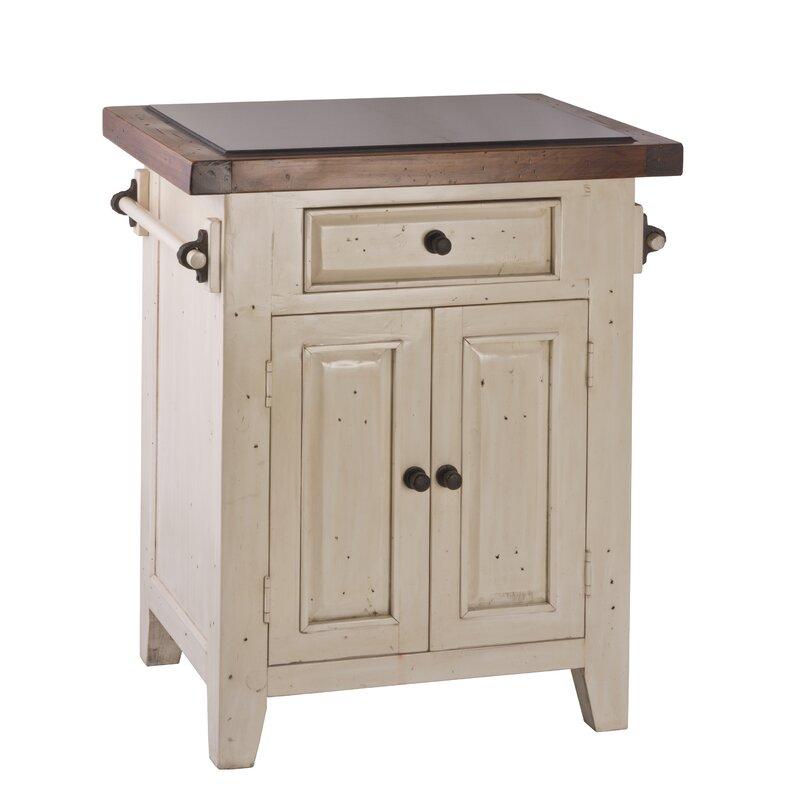 Lavedan Kitchen Cart With Granite Top