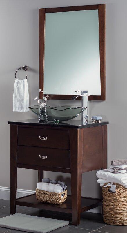 Novatto Oblong Glass Rectangular Vessel Bathroom Sink