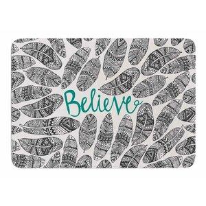 Believe by Pom Graphic Design Memory Foam Bath Mat