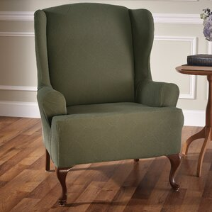 Madden Stretch T-Cushion Wingback Slipcover by Red Barrel Studio