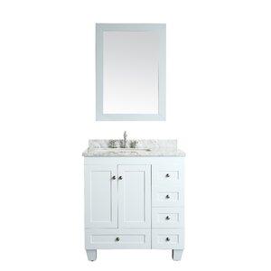 Single White Bathroom Vanities