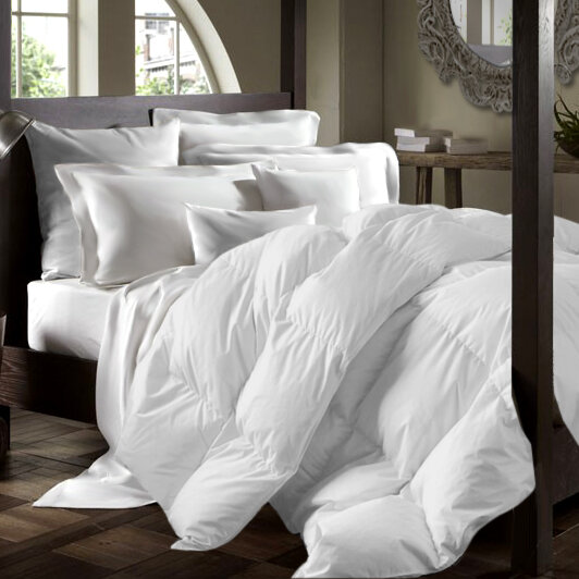 california goose fill down count king power comforter thread size white