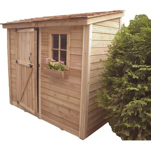 SpaceSaver 8 ft. 7 in. W x 4 ft. 7 in. D Wooden Lean-To Tool Shed