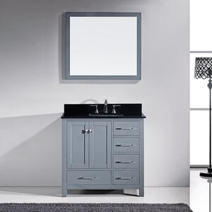 Melba 37″ Single Bathroom Vanity Set with Mirror