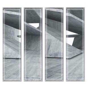 Crystal Beveled 3 X 12 Gl Subway Tile In Dark Gray