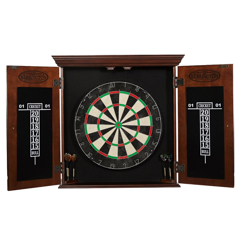 Charmant Chatham Bristle Dartboard And Cabinet Set With Darts (Part Number:  DRB100_047B)