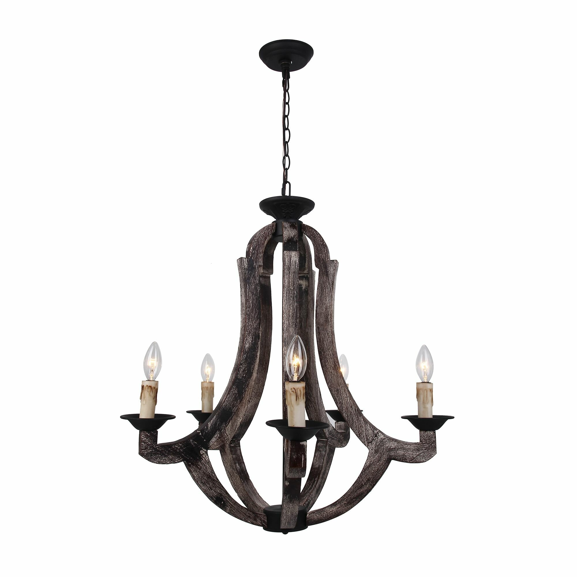 Ophelia & Co Esperanza 5 Light Candle Style Chandelier & Reviews