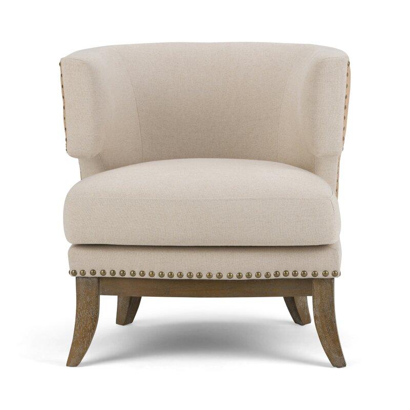 Superieur Hoffman Linen Barrel Chair