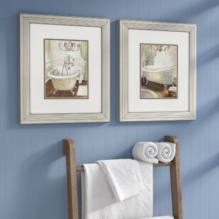 U0027Guest Bathroomu0027 2 Piece Framed Painting Print Set