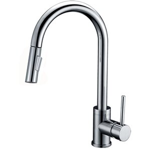 Y Decor Luxurious Single Handle Pull-down Kitchen Faucet