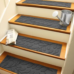 Bilmont Charcoal Brittany Leaf Stair Tread (Set Of 4)