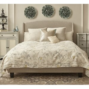 chambery shelter back queen upholstered panel bed - Bed