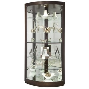 Gillian Lighted Corner Curio Cabinet by H..