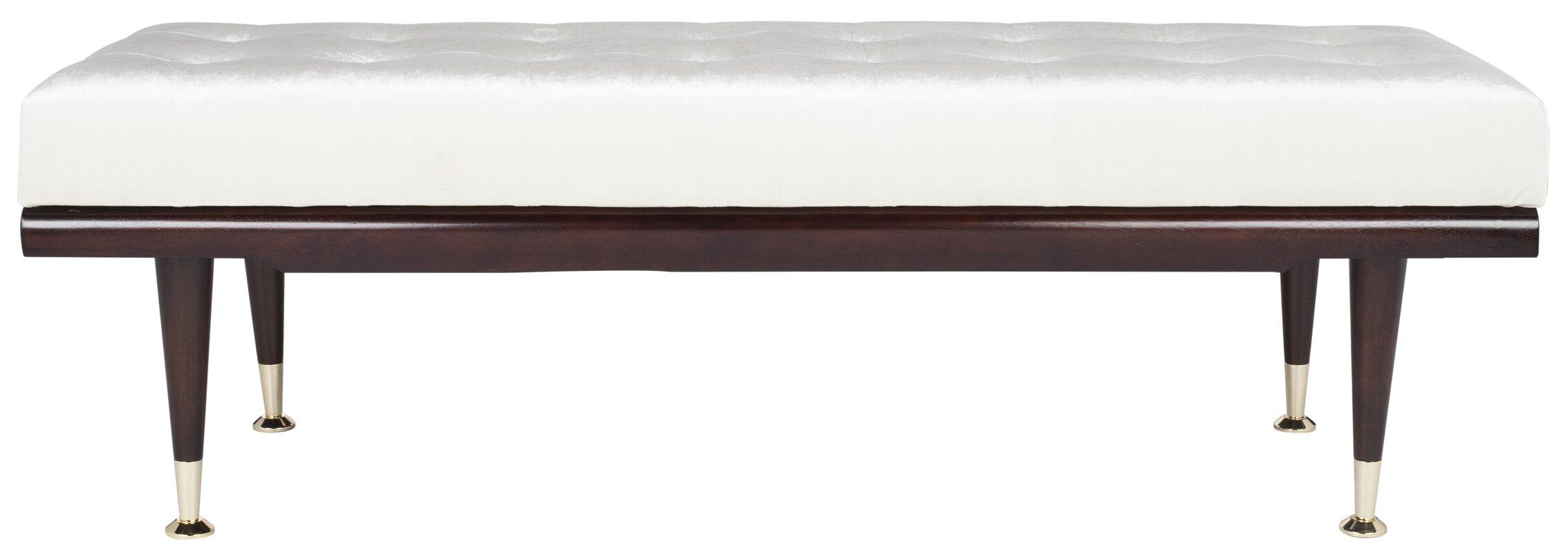 safavieh gepolsterte schlafzimmerbank sofia. Black Bedroom Furniture Sets. Home Design Ideas