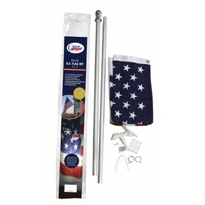 Traditional Flag and Flagpole Set