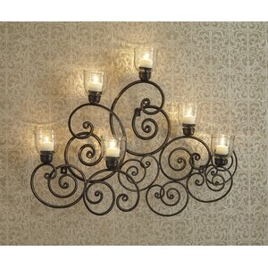 Metal Wall 6 Light Sconce