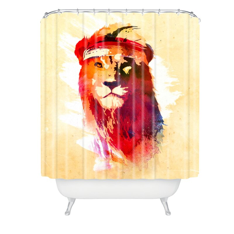 Robert Farkas Gym Lion Shower Curtain