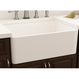 Cape 30 L X 18 W Farmhouse Kitchen Sink With Grid
