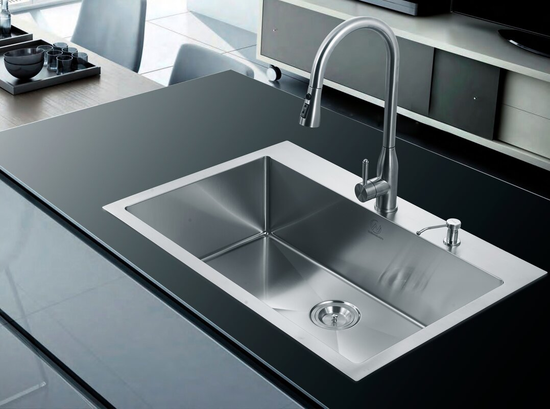 22 x 33 kitchen sink dcor design 33 quot x 22 quot single drop in kitchen sink 7298