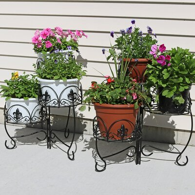 outdoor plant stands you 39 ll love wayfair. Black Bedroom Furniture Sets. Home Design Ideas