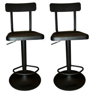 Industrial Adjustable Height Swivel Bar Stool (Set of 2)
