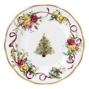 Christmas Tree Salad Plate  sc 1 st  Wayfair & Christmas Plates Set | Wayfair