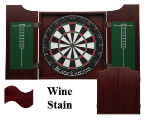 Dart Board Cabinet in Wine