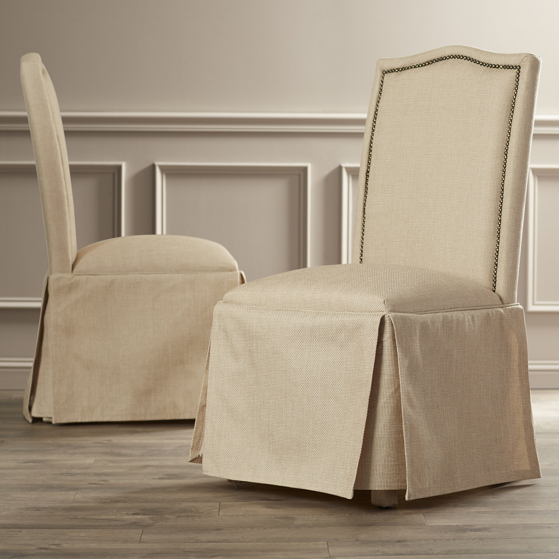 Alcott Hill Alison Skirted Parson Chair U0026 Reviews | Wayfair