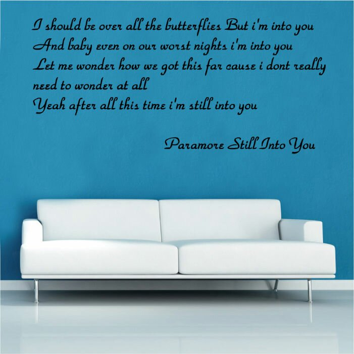 Paramore Still Into You Song Lyrics Wall Sticker: Paramore Bed Sheets At Alzheimers-prions.com