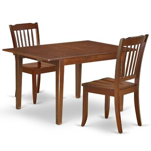 Kranz 3 Piece Extendable Solid Wood Dining Set
